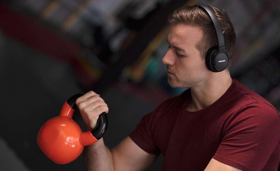 Test PHILIPS SH402 Bluetooth niedrogie słuchawki nauszne sportowe z funkcją chłodzenia 12
