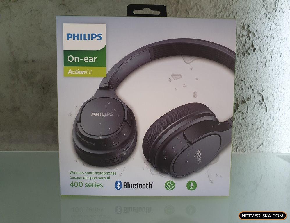 Test PHILIPS SH402 Bluetooth niedrogie słuchawki nauszne sportowe z funkcją chłodzenia 2