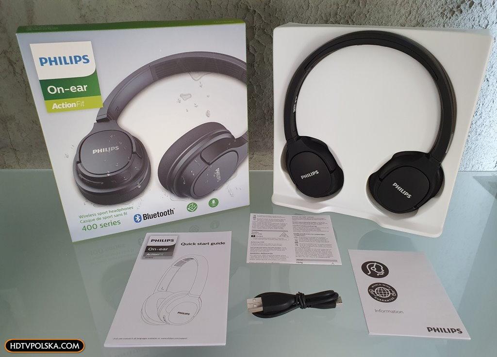 Test PHILIPS SH402 Bluetooth niedrogie słuchawki nauszne sportowe z funkcją chłodzenia 3