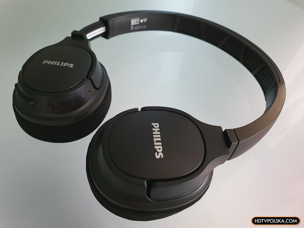 Test PHILIPS SH402 Bluetooth niedrogie słuchawki nauszne sportowe z funkcją chłodzenia 4