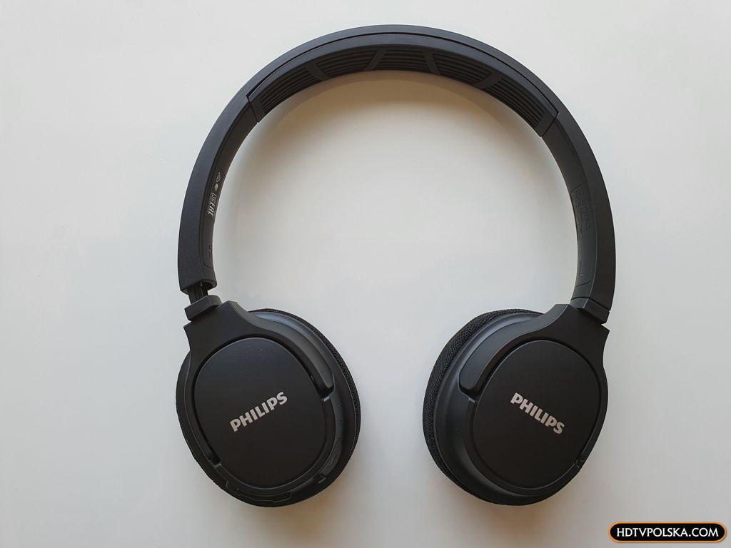 Test PHILIPS SH402 Bluetooth niedrogie słuchawki nauszne sportowe z funkcją chłodzenia 5
