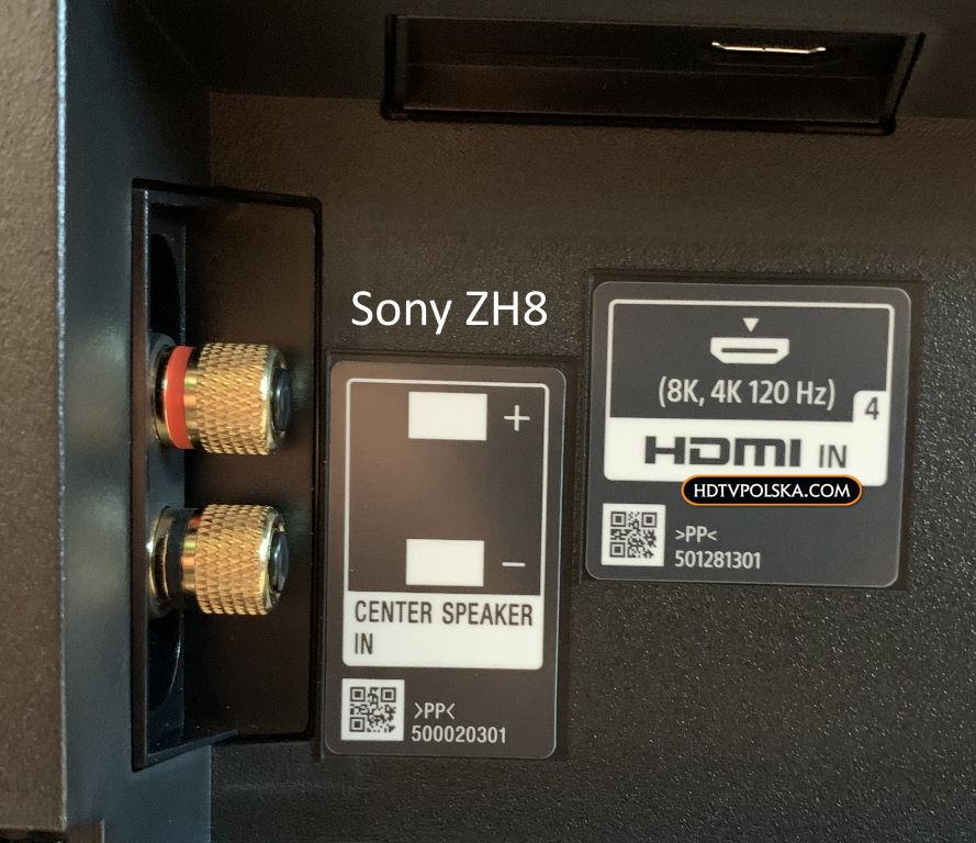 Test Sony ZH8 HDMI 2.1