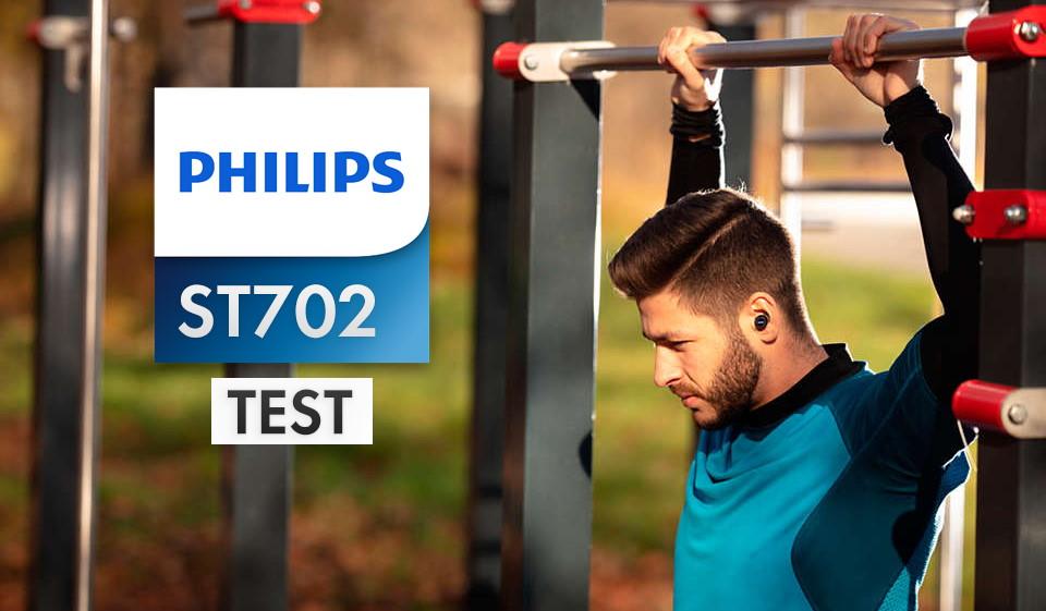 Philips ST702 | TEST | Sportowe słuchawki bezprzewodowe z technologią czyszczenia UV – zero bakterii