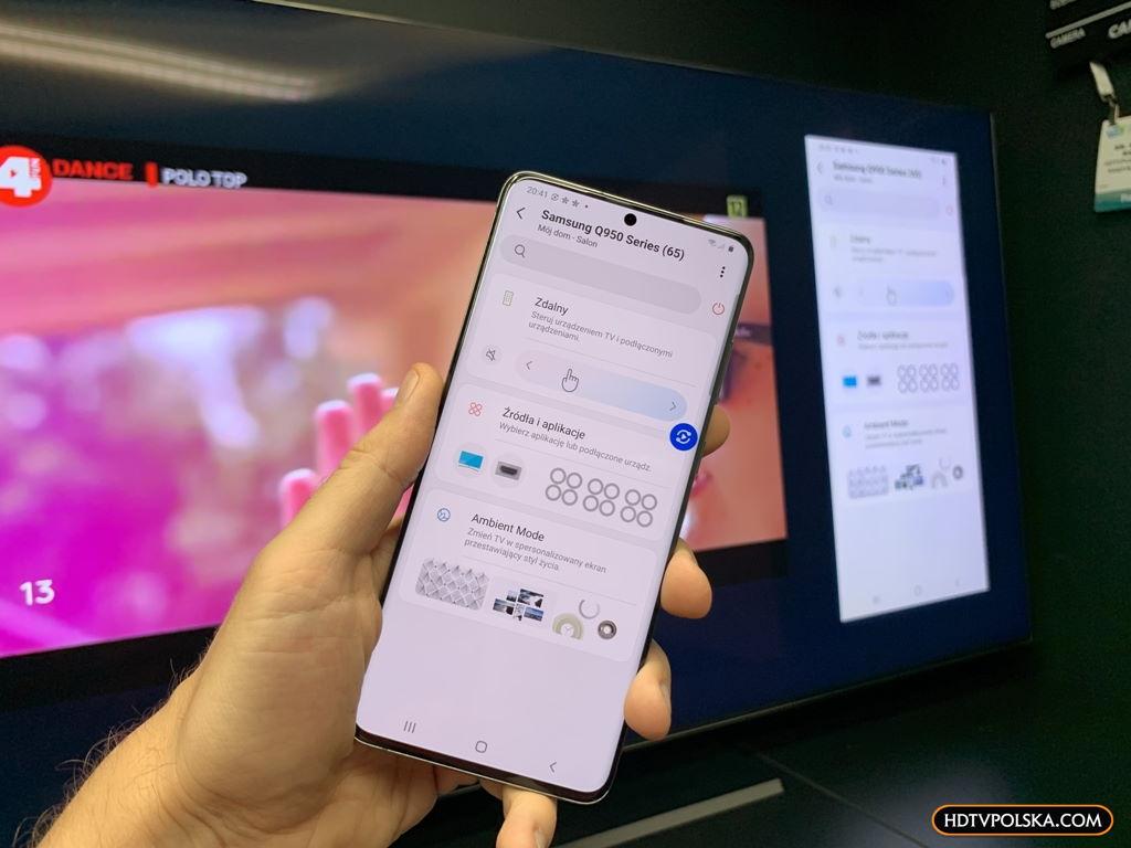 Aplikacja SmartThings Samsung QLED Q950TS 8K salon