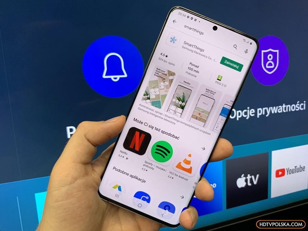 Aplikacja SmartThings Samsung QLED Q950TS 8K
