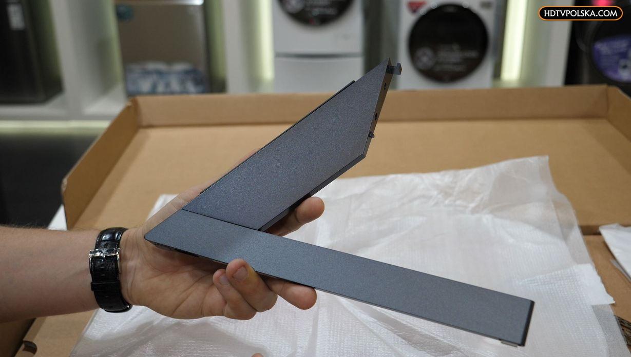 LG OLED GX test podstawa nóżki na żywo
