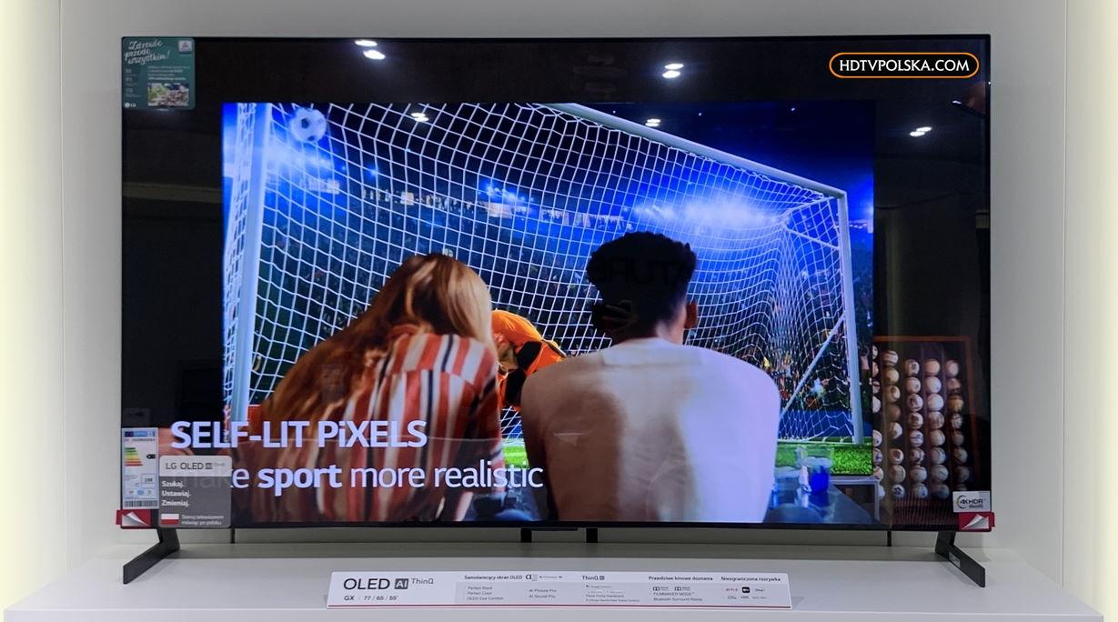 LG OLED GX test podstawa nóżki na telewizorze 3