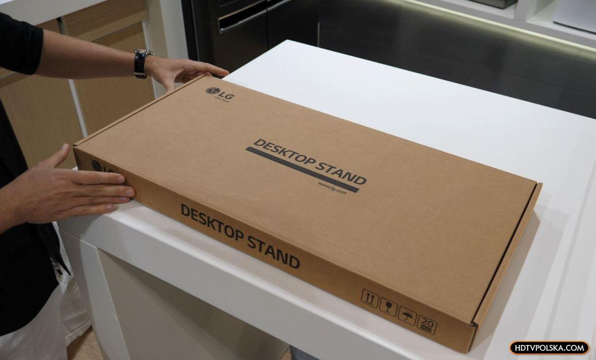 LG OLED GX test podstawa nóżki
