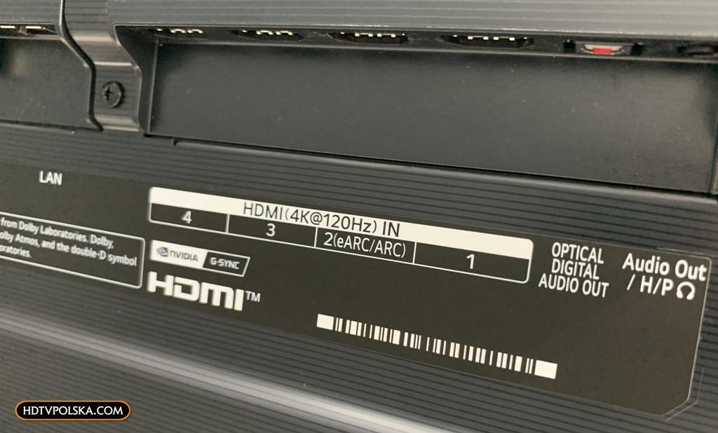 LG OLED GX test porty hdmi 2.1