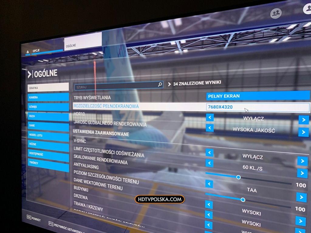 Microsoft Flight Simulator 2020 rozdzielczość 8K