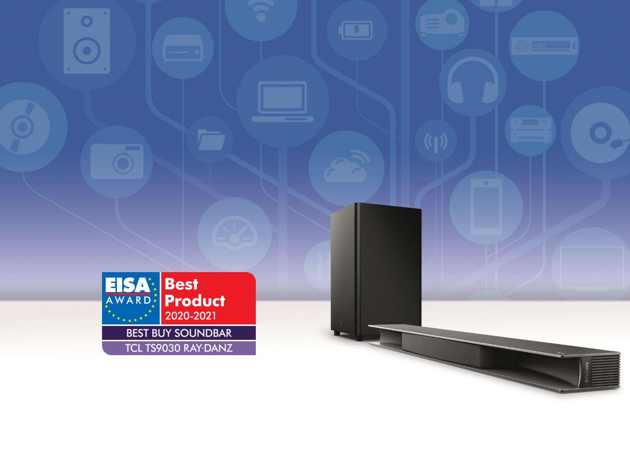 """EISA: Najlepszy soundbar """"cena/jakość"""" to TCL RAY-DANZ TS9030. Nowatorskie podejście do uzyskania Dolby Atmos!"""