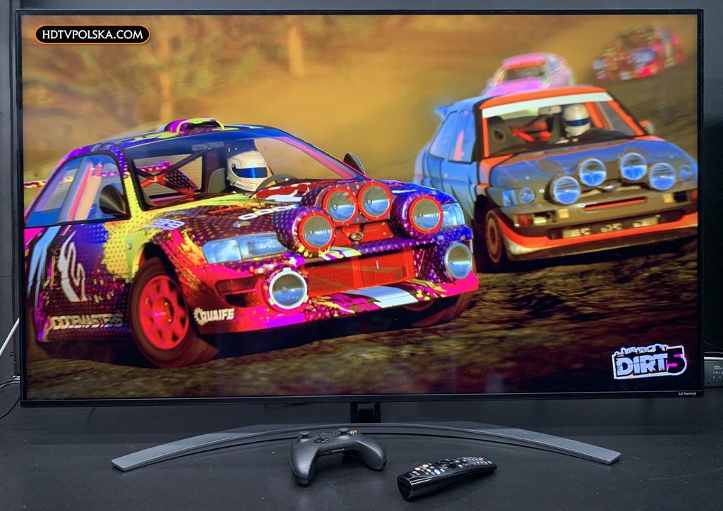 Test lcd lg nano91 telewizor NanoCell Gry Dirt 5 120Hz