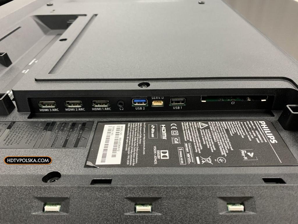 Test zapowiedź Philips OLED 805 855 865 porty