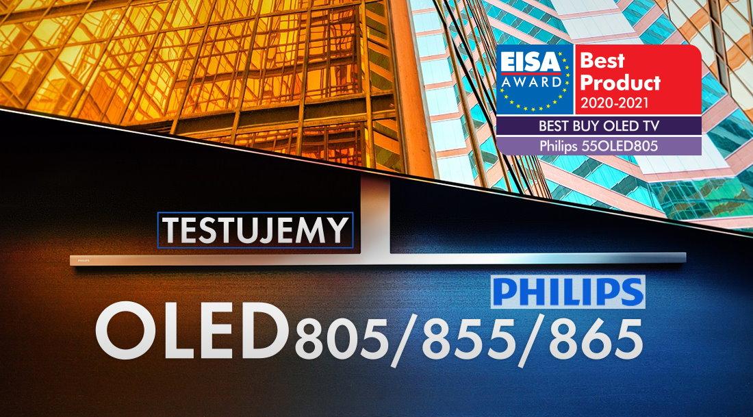 Najlepszy telewizor OLED cena / jakość 2020 roku? | TEST | Philips OLED 805/855/865