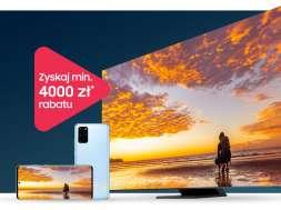 Samsung promocja telewizor QLED 8K smartfon Galaxy S20+
