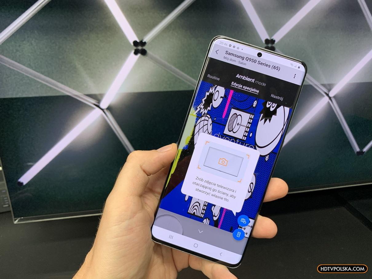 Aplikacja SmartThings Samsung QLED Q950TS 8K ambient tryb