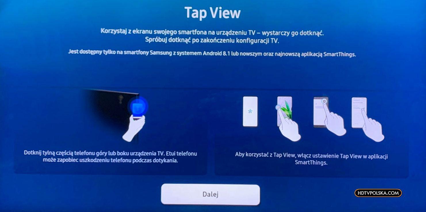 Aplikacja SmartThings Samsung QLED Q950TS 8K tap view