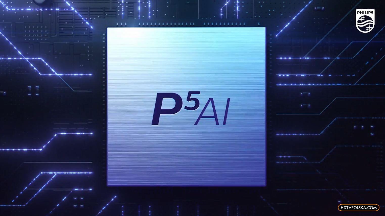 Procesor P5 AI telewizory Philips co nowego 12 logo