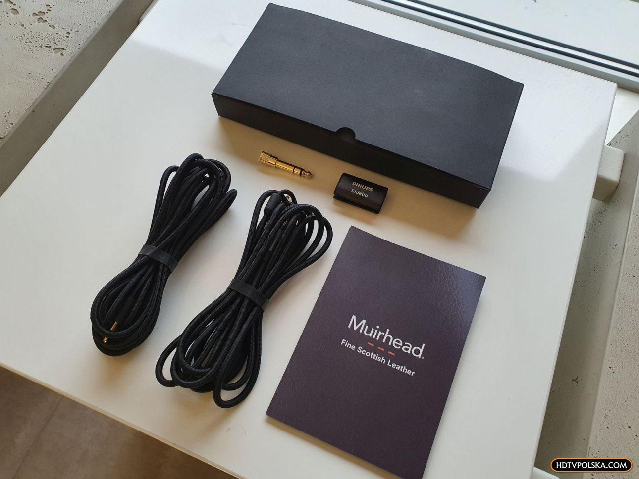 Test słuchawki Philips Fidelio X3 pudło co w zestawie