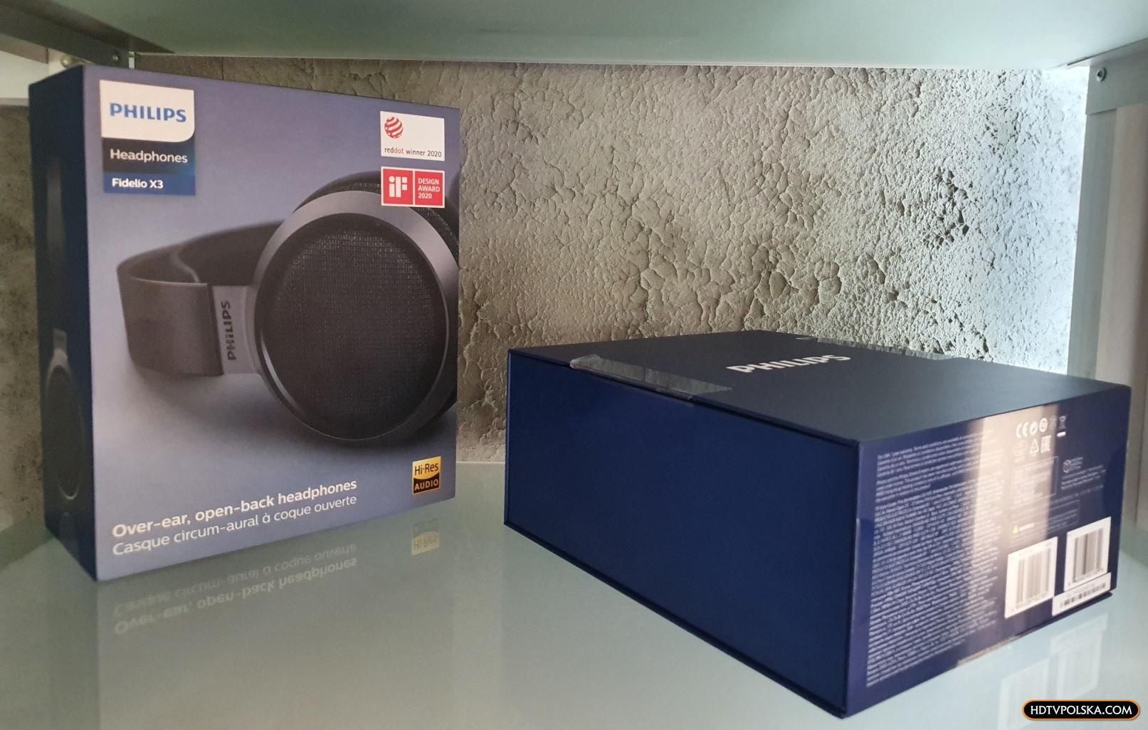 Test słuchawki Philips Fidelio X3 pudło