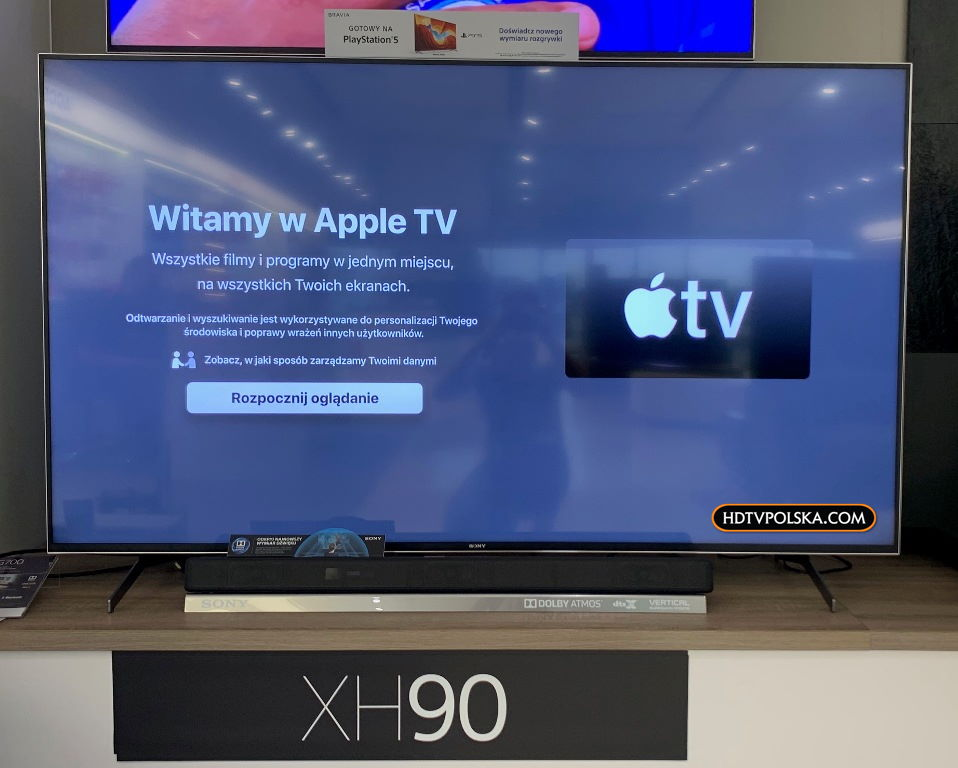 Apple TV na telewizorach Sony Android TV 2