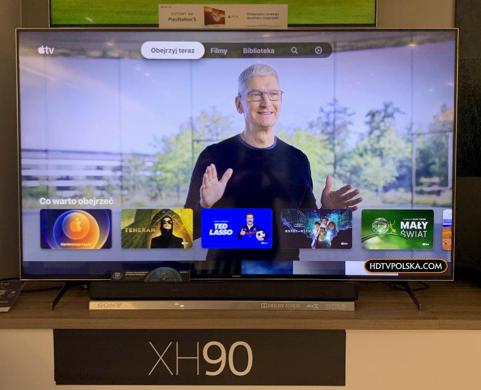 Apple TV na telewizorach Sony Android TV 3
