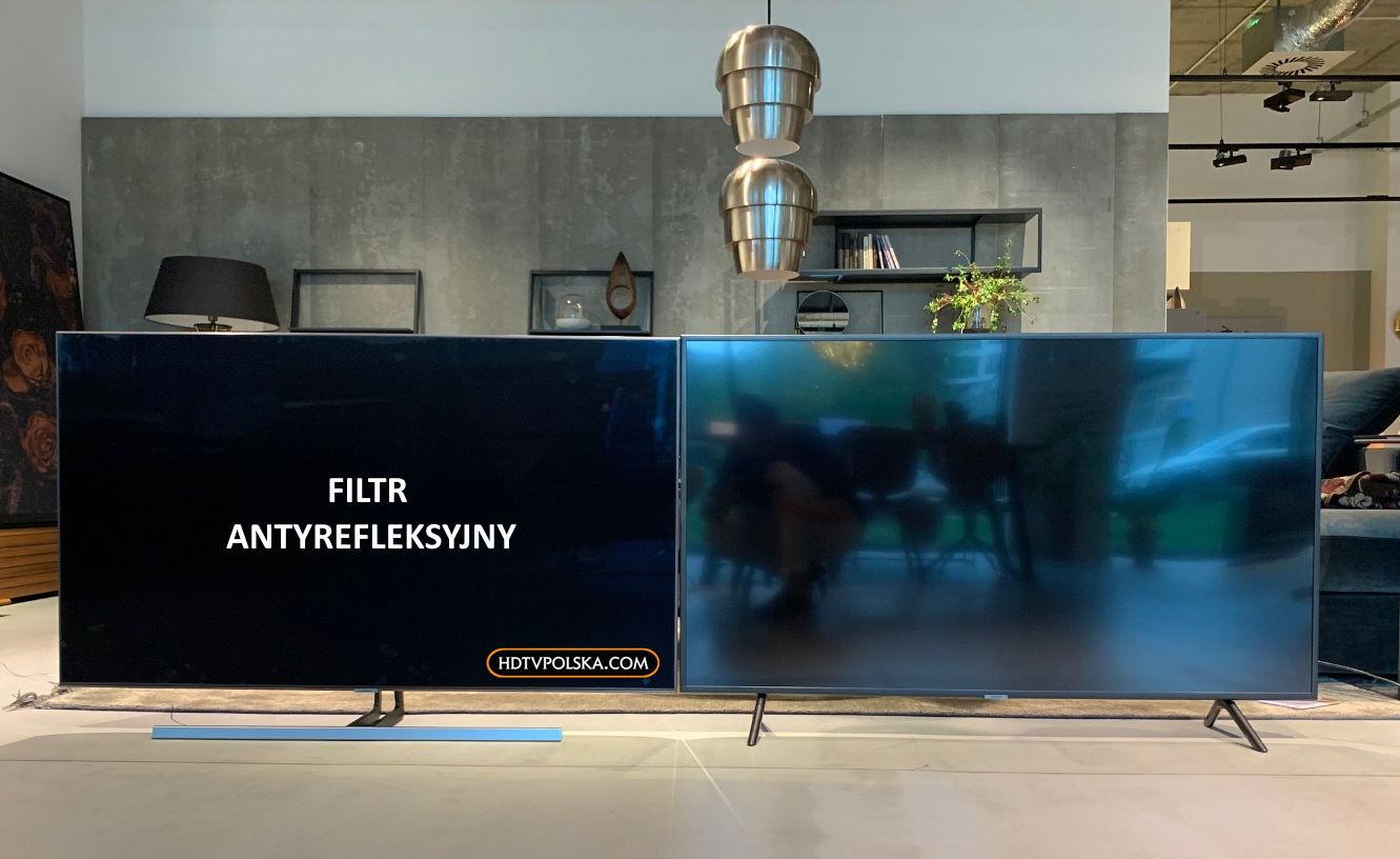 Filtr antyrefleksyjny w telewizorze