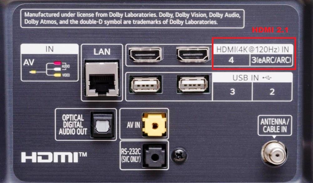 LG NANO86 120Hz z HDMI 2.1 które porty