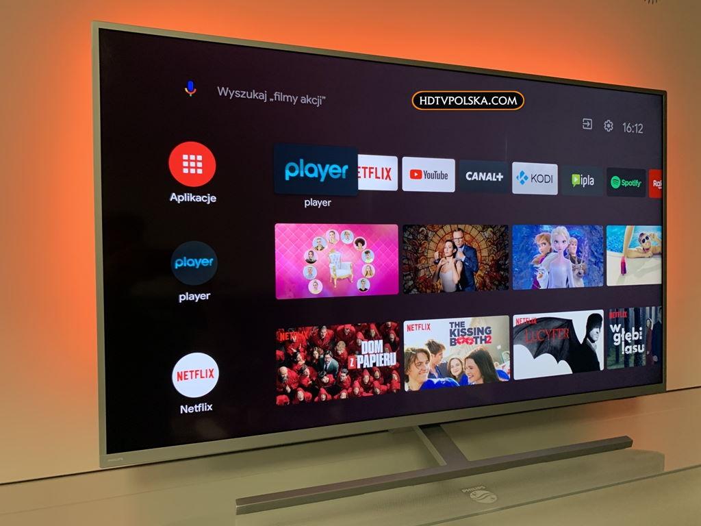 Philips Performance PUS8535 test aplikacje android tv