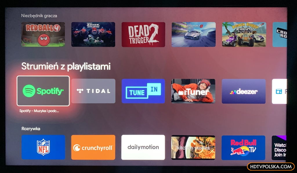 Test system Android TV Sony 2020 Google Play Store