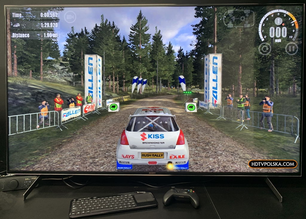 Test system Android TV Sony 2020 Rush Rally 3 2