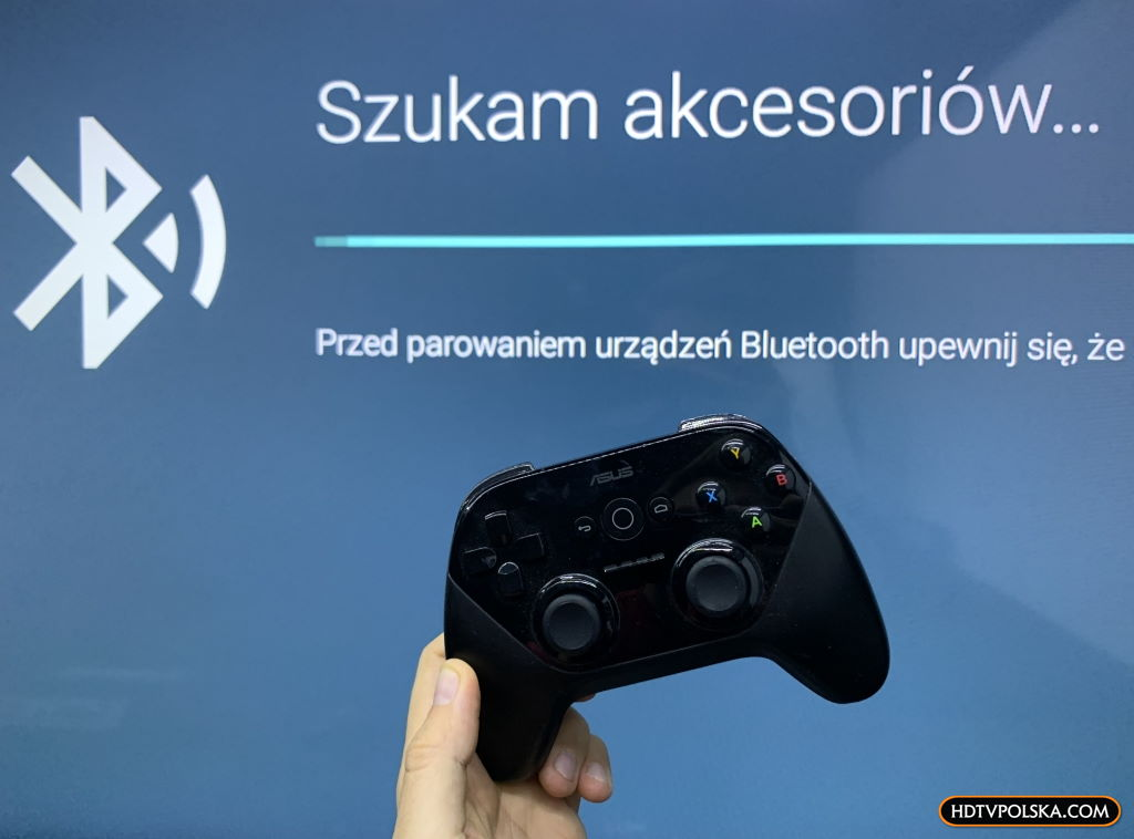 Test system Android TV Sony 2020 gamepad