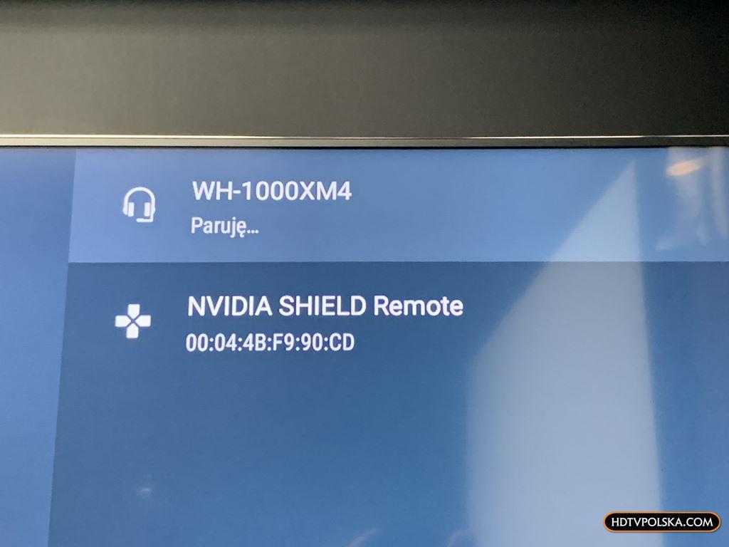Test system Android TV Sony 2020 parowanie 1