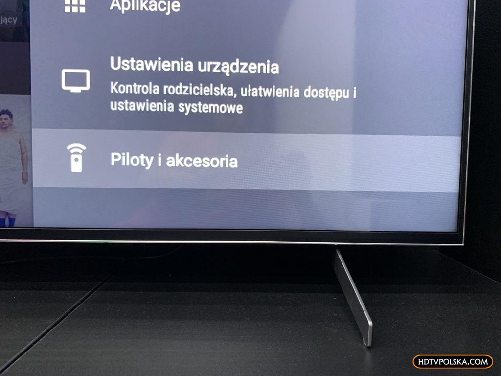 Test system Android TV Sony 2020 parowanie 2