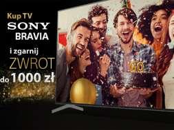 Sony Bravia telewizory zwrot karta podarunkowa RTV Euro AGD