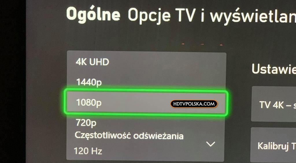 Jak ustawić telewizor xbox series x 4k 120fps