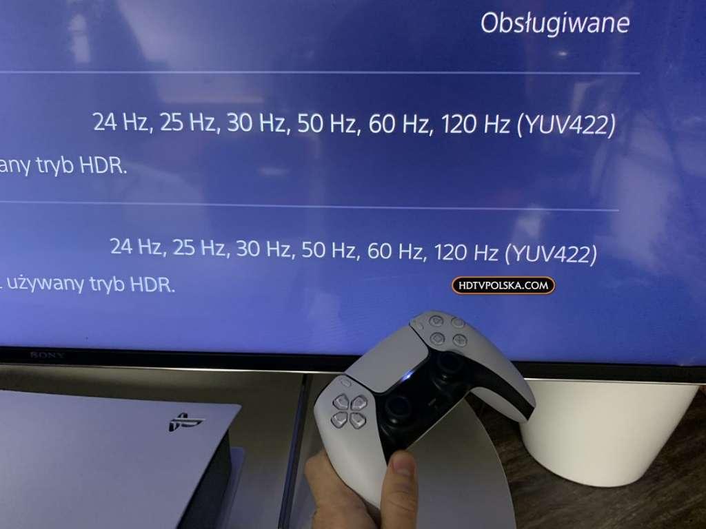 Sony XH90 z PS5 PlayStation 5 HDMI 2.1 120Hz