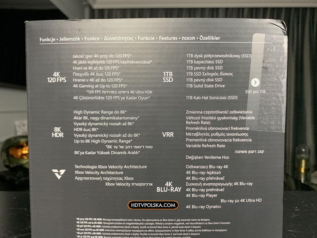 Unboxing Xbox Series X porty pudło 1