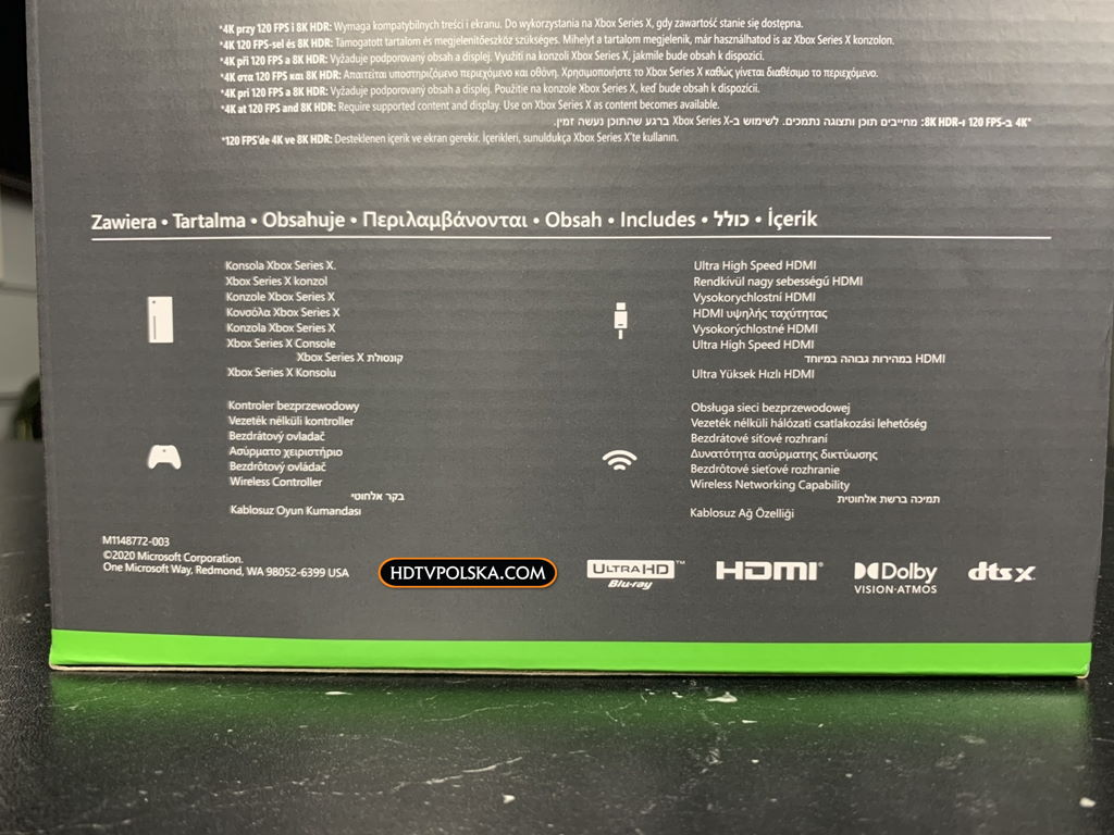 Unboxing Xbox Series X porty pudło 2