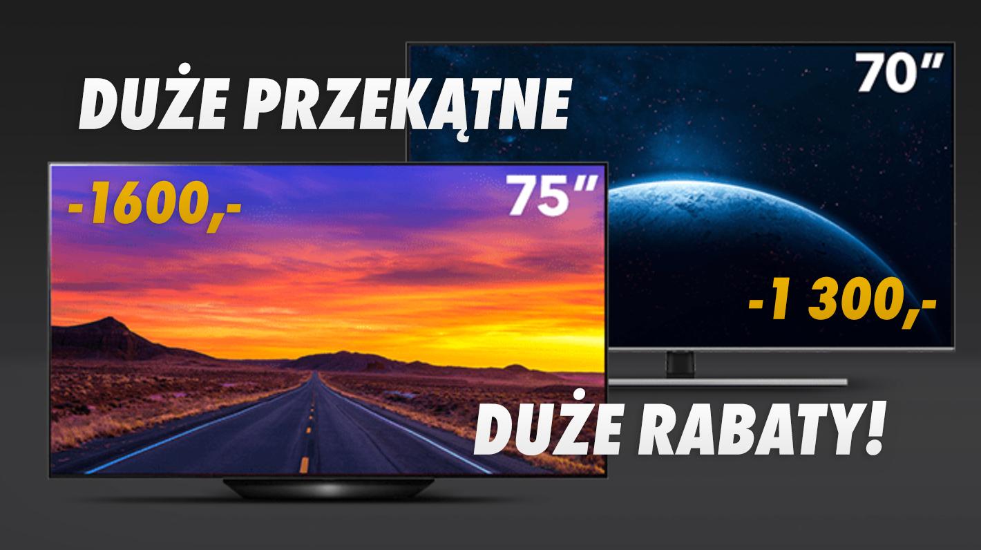Jaki duży telewizor premium w świetnej cenie? Wielkie przekątne od LG, Philips, Samsung i Sony do 2100 zł taniej – w którym sklepie?