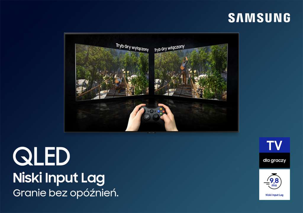 Telewizory Samsung QLED to świetni partnerzy komputerów i konsol nowej generacji. Producent prezentuje przewodnik dla graczy!