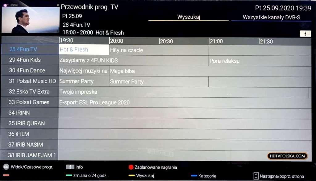 Test Panasonic HX940 LCD EPG