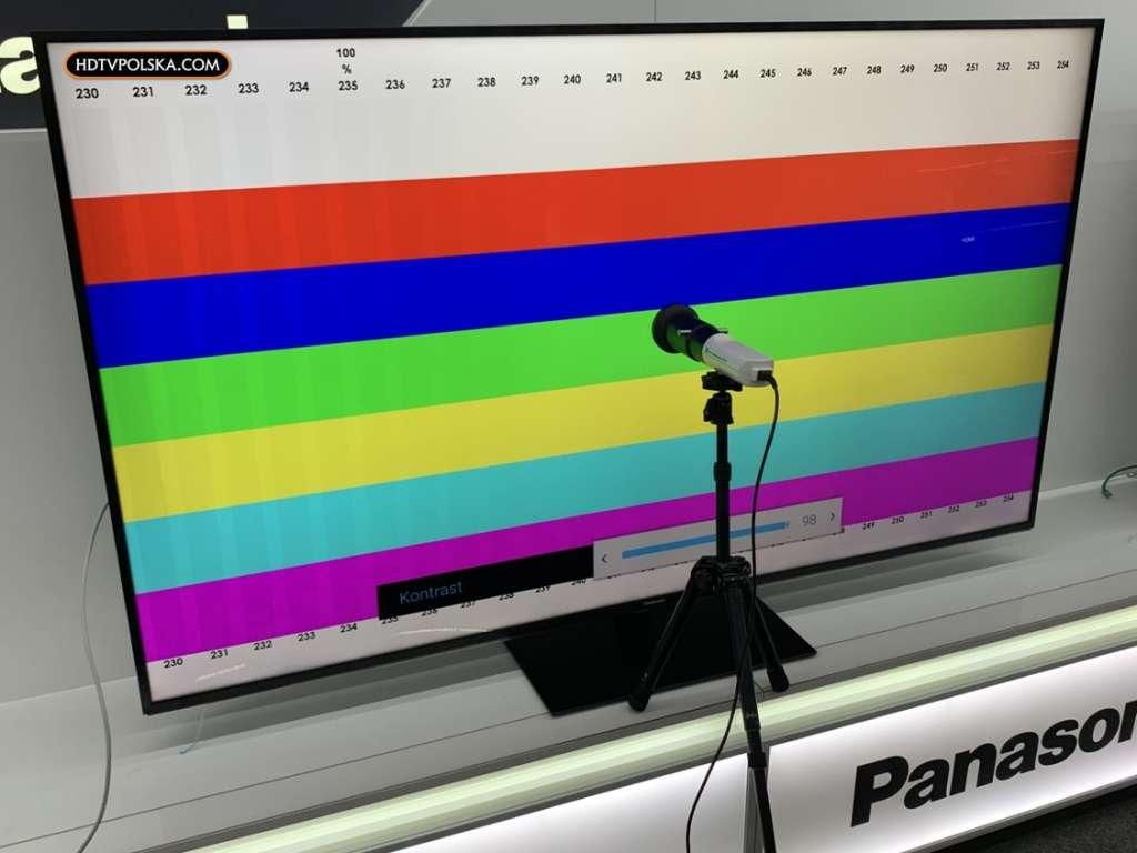 Test Panasonic HX940 LCD pomiary