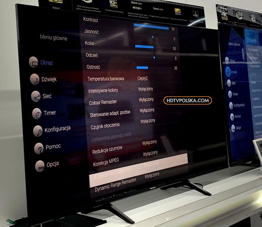 Test Panasonic HX940 LCD ustawienia