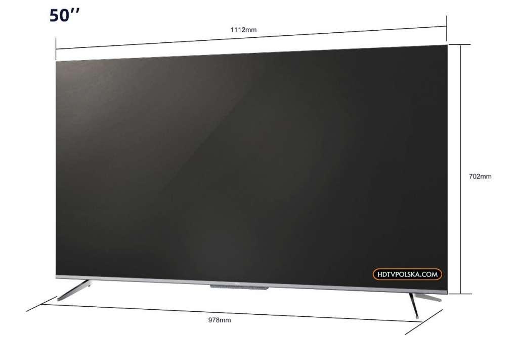 Test telewizor TCL P715 wymiary