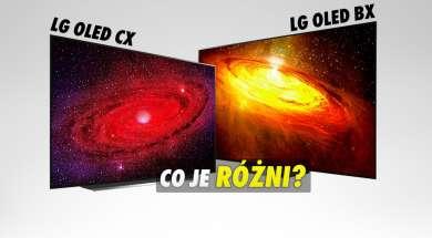 LG OLED BX CX różnice telewizor