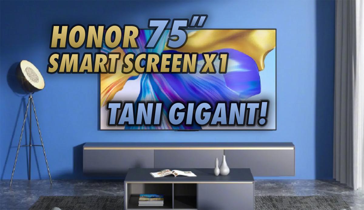 Od dziś w sprzedaży mega tani 75-calowy telewizor 4K Honor Smart Screen X1. Chińczycy znów zaskoczyli hitową ceną!