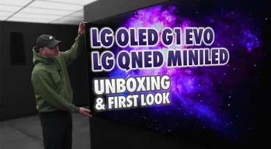 LG OLED G1 evo telewizor unboxing