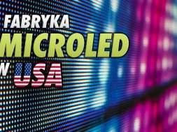 MicroLED panele fabryka USA