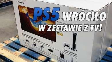 PS5 konsola zestaw z telewizorem XH90